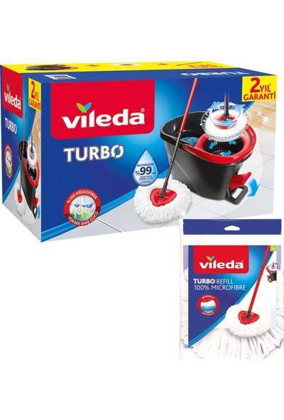 Vileda Turbo Pedallı Temizlik Seti + 1 Yedek