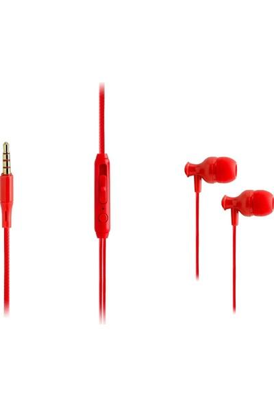 Ktools Spring Stereo Kablolu Mikrofonlu Kulaklık 120 cm Kırmızı