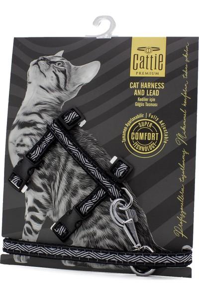 Cattie Özel Desenli Dokumadan El Yapımı Kedi Göğüs & Gezdirme Takımı