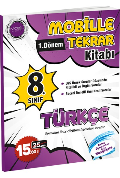 Mobil Yayıncılık Mobille 1.Dönem Tekrar Kitabı Türkçe