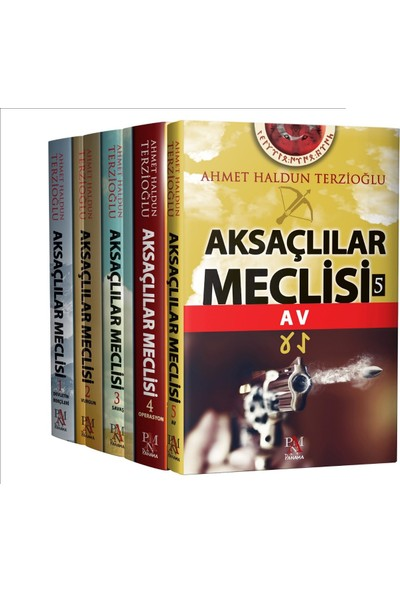 Aksaçlılar Meclisi Seti 5 Kitap Takım - Ahmet Haldun Terzioğlu