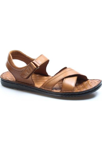 Fast Step Deri Erkek Klasik Sandalet 018MBAG-212-18