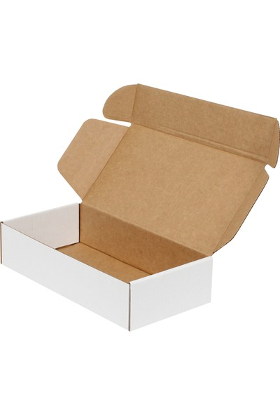 Kolici E-Ticaret Kargo Kutusu 10'lu 24 x 12 x 5,5 cm Beyaz