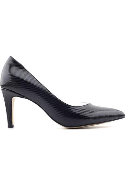 Bono Shoes 174 Kadın Ayakkabı Siyah Çizgili