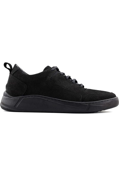 Eduardo Editta K402 Hakiki Deri Erkek Ayakkabı Siyah Nubuk