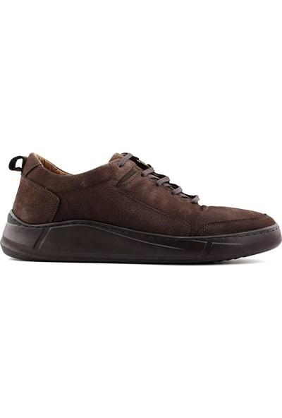 Eduardo Editta K402 Hakiki Deri Erkek Ayakkabı Kahverengi Nubuk