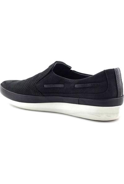 Eduardo Editta Hakiki Deri Erkek Ayakkabı Siyah Nubuk