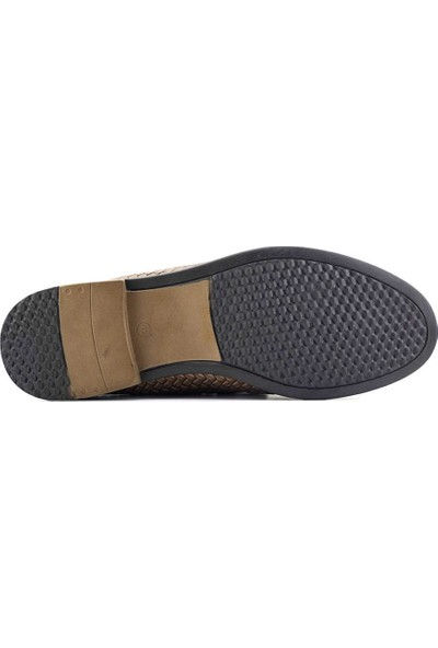 Eduardo Editta 804 Hakiki Deri Erkek Ayakkabı Kum