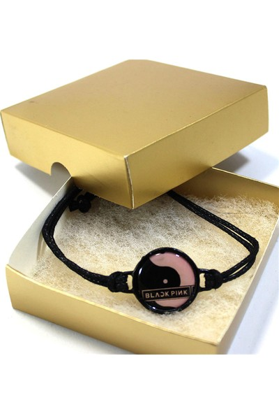 Modaroma Black Pink Mineli Bileklik