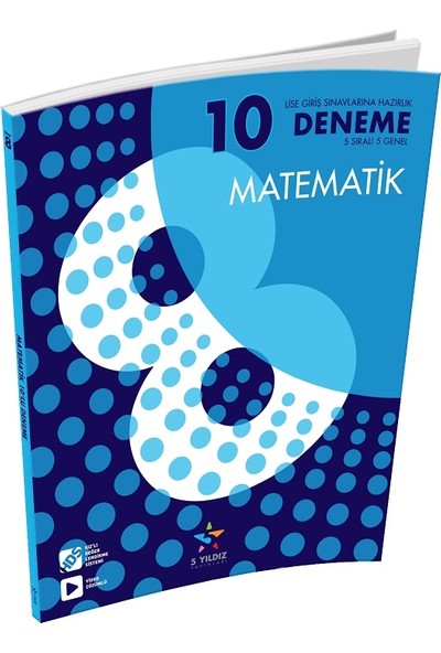 5 Yıldız Yayınları 8.Sınıf Matematik Deneme 10