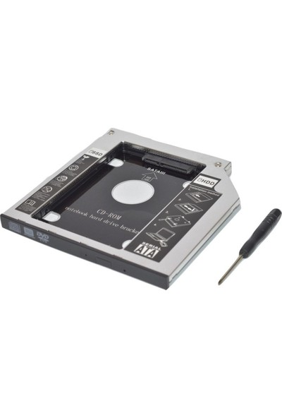 Compaxe SSD Caddy 9.5mm DVD To SSD Kutusu