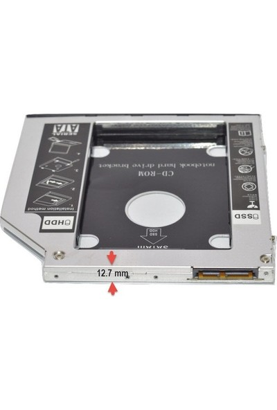 Compaxe SSD Caddy 12.7mm DVD To SSD Kutusu