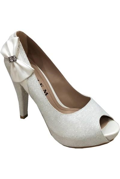 Gizem 46611 Simli Yüksek Platform Kadın Ayakkabı
