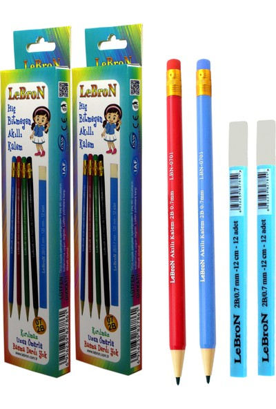 Lebron Hiç Bitmeyen Akıllı Kalem Set 2'li