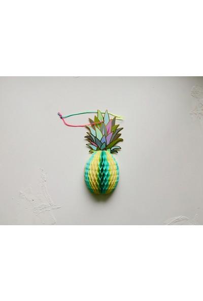Ohlala Party Yeşil Ananas Şeklinde Petek Süs