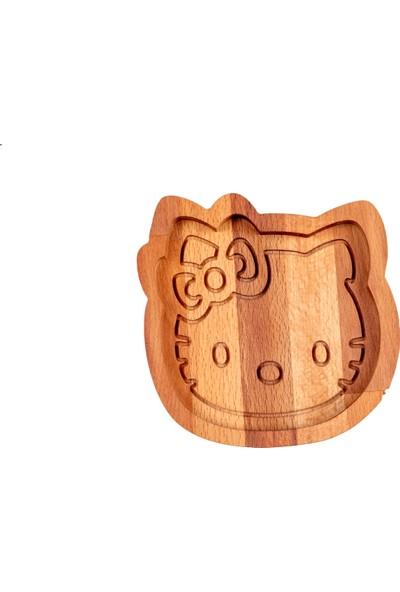 Dharmawood Doğal Ahşap Hello Kitty Çerezlik