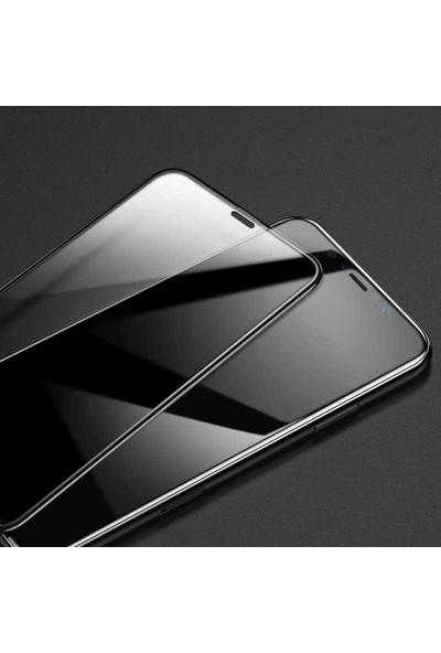 Case 4U Apple iPhone 11 Cam Ekran Koruyucu Tam Kaplayan 5D Siyah