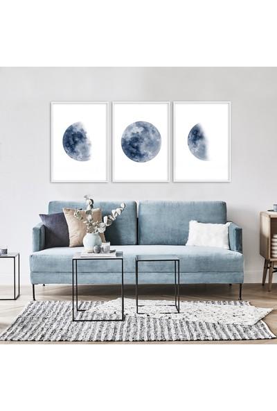 Hepsi Home Moon 3'Lü Çerçeveli Poster Hpbd-004