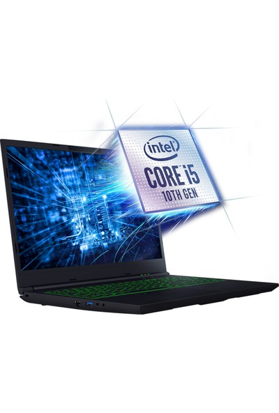 Monster Abra A5 V15.7.5 Intel Core i5 10300H 16GB 250GB SSD GTX1650Ti Freedos 15.6'' FHD Taşınabilir Bilgisayar