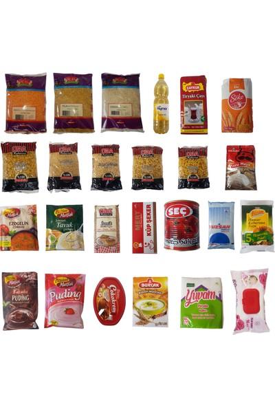 Romofy Temel Ihtiyaç Kolisi - 26 Parça Ramazan Erzak Yardım Paketi Kolisi
