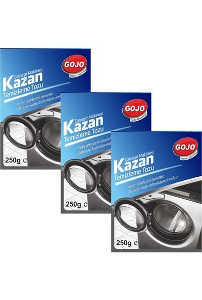 Gojo Çamaşır Makinesi Kazan Temizleme Maddesi 250 gr + 3'lü Set