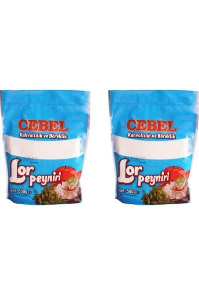Cebel 2li Fırsat Paketi 2 Adet Yağı Azaltılmış Vakumlu Lor Peynir 500+500 Gr.