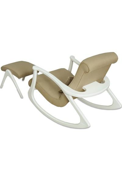 Asedia Ekol Lake Beyaz Gri Sallanan Sandalye