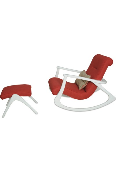 Asedia Ekol Lake Beyaz Kırmızı Sallanan Sandalye