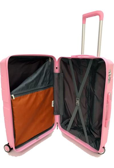 ÇÇS Lux Polypropylene Valiz 2'li Set Set Kabin - Büyük