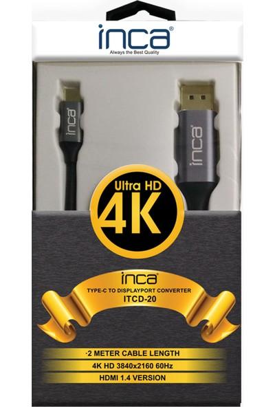 Inca Itcd-20 Type-C To Displayport 4K - 2m