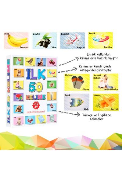 Mofy Baby İngilizce Destekli Eğitici İlk 50 Kelimem Flash Kartlar