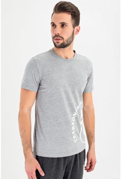 Ts Club T-Shirt Bisiklet Yaka Logo Baskili