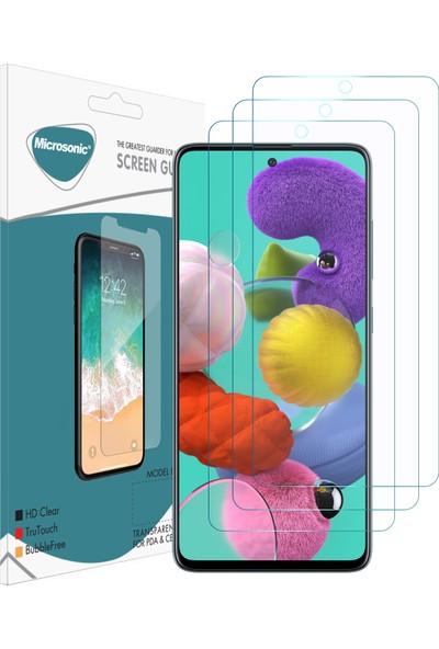 Microsonic Samsung Galaxy A51 Ekran Koruyucu Nano Cam (3'lü Paket)