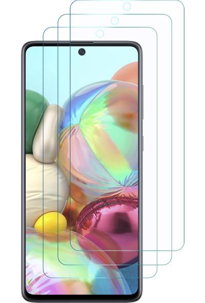 Microsonic Samsung Galaxy A71 Ekran Koruyucu Nano Cam (3'lü Paket)