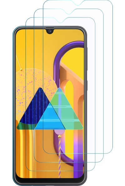Microsonic Samsung Galaxy M30S Ekran Koruyucu Nano Cam (3'lü Paket)