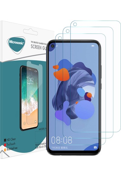 Microsonic Huawei Mate 30 Lite Ekran Koruyucu Nano Cam (3'lü Paket)