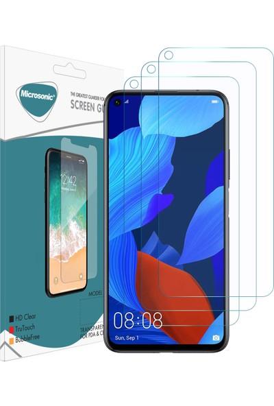 Microsonic Huawei Nova 5t Ekran Koruyucu Nano Cam (3'lü Paket)