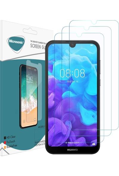 Microsonic Huawei Y5 2019 Ekran Koruyucu Nano Cam (3'lü Paket)