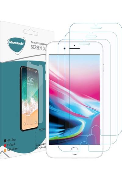 Microsonic Apple iPhone 8 Ekran Koruyucu Nano Cam (3'lü Paket)