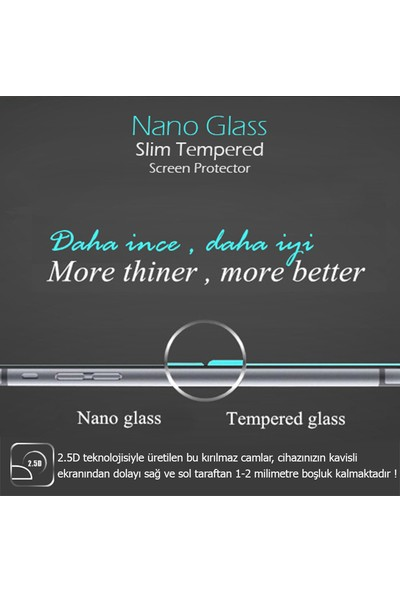 Microsonic Apple iPhone 8 Plus Ekran Koruyucu Nano Cam (3'lü Paket)