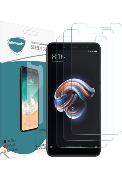 Microsonic Xiaomi Redmi Note 5 Pro Ekran Koruyucu Nano Cam (3'lü Paket)