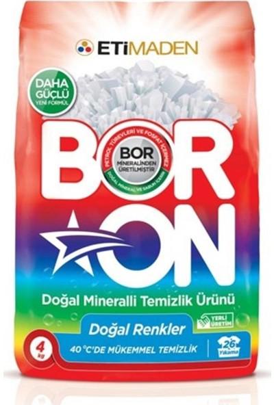 Eti Matik Boron Doğal Renkler Toz Deterjan 4 kg x 4 Adet