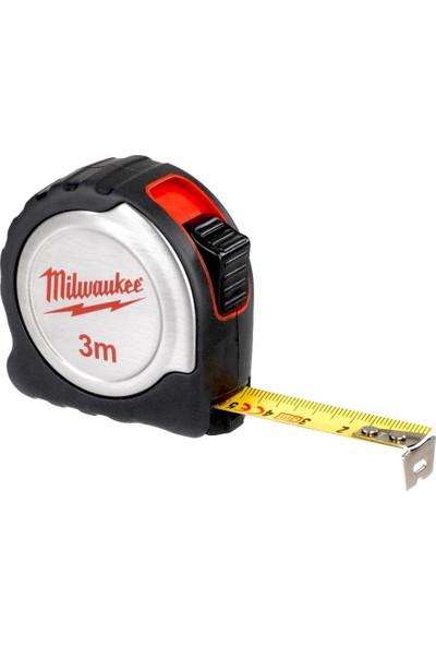 Milwaukee T4932451637 Ağır Hizmet Tipi Inox Gövdeli Şerit Metre 3m
