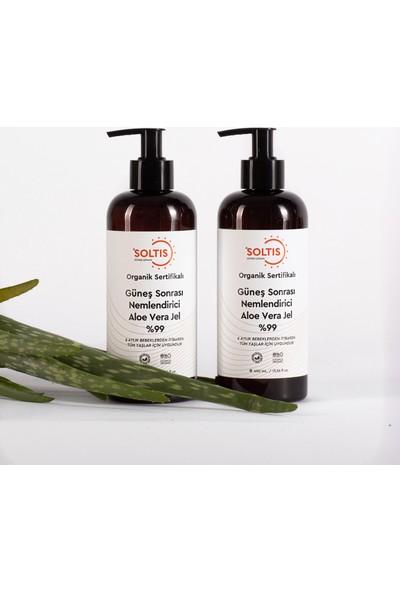 Soltis Organik Sertifikalı Güneş Sonrası Nemlendirici Aloe Vera Jel %99