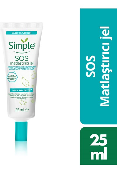 Simple SOS Matlaştırıcı Jel 25 ml