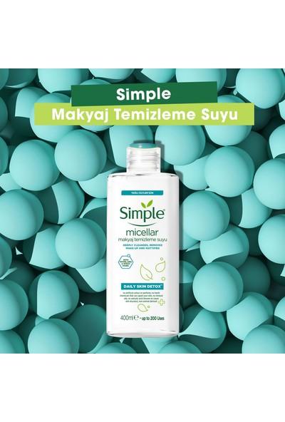 Simple Daily Skin Detox Yağlı/Karma Ciltler İçin Sert Kimyasalsız & Kekik Özü İçeren Micellar Makyaj Temizleme Suyu 400 ml