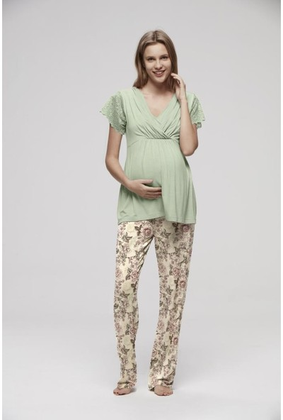 Catherine's Maternity 837 Pijama Takımı Yeşil XL