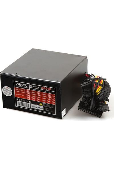 Everest EPS-500A Real 500W 12 cm 4*Sata 12 cm Power Supply