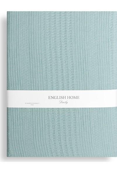 English Home Düz Baskılı Tek Kişilik Pike 150 x 230 Cm Seledon