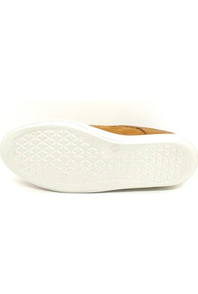Serdar Yeşil Deri Taba Nubuk Bağcıklı Eva Taban Erkek Klasik Günlük Ayakkabı